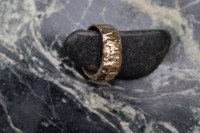 chiseled MT Ring Brass variation. Perfect as wedding band or for everyday wear